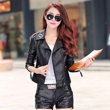 Autumn 2015 new PU leather women's leather jacket Haining European leg Slim