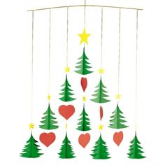 Flensted Mobile 91b Christmas Trees 10