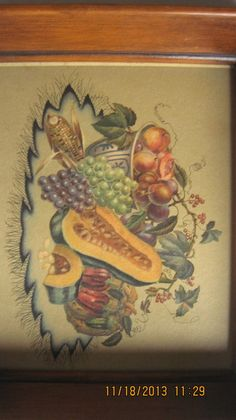 ANTIQUE DEPRESSION ERA STILL LIFE NYGALLERY NUMERED IN ORIGINAL DEEP WOOD FRAME, 1 OF 2