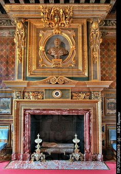 France, Loire Valley, interiors of Chateau de Cherverny