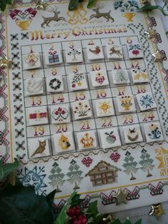 14 Count Christmas Cross Stitch Kit Cross by MaggieGeeNeedlework