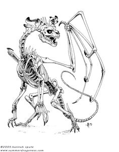 Inked Dracolich Commission :E I like skeletons I have to say that this particular dragon was fun to do, drawing bones is just fun fun fun :} Dracolich Commission Crazy Drawings, Pencil Drawings, Dragon Art, Shades Of Black, Fantasy World, Dragons, Fairy Tales, Stencils, Creatures