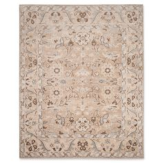 Safavieh Handmade Maharaja Toril Traditional Oriental Viscose Rug (Beige/Ivory x Brown White Area Rug, Beige Area Rugs, Hand Knotted Rugs, Hand Weaving, Modern Room Design, Damask Rug, Beige Carpet, Traditional Decor, Carpet Runner