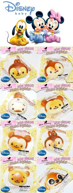 Baby Disney Jumbo Squishy Bread Mascot