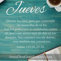 Semana 1 {Salmo 119:18, 23-24} #AmaaDiosGrandemente #Devocionaldiario #Salmo119 #LecturaBíblica #plandelectura #tiempodequietud