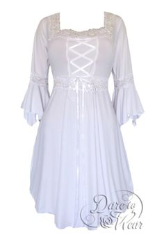 Plus Size White Icing Gothic Renaissance Corset Dress [FD01WI] - $57.99 : Mystic Crypt, the most unique, hard to find items at ghoulishly great prices!