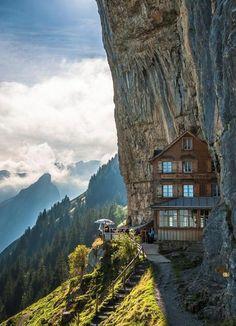Berggasthaus Aescher, Appenzellerland, Switzerland. https://www.facebook.com/jose.denis.7545