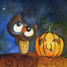 halloween++Owl by+BeiLeXian