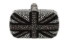 Minaudières London flag Alexander McQueen http://www.vogue.fr/mode/shopping/diaporama/shopping-londres-london-calling/14511/image/806121#!minaudieres-tete-de-mort-alexander-mcqueen-shopping-londres
