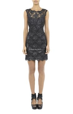 Foiled Lace Dress Xmas or New Years Eve Party