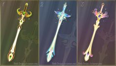 Weapons by Rittik-Designs on DeviantArt Fantasy Sword, Fantasy Weapons, Fantasy Art, Fantasy Drawings, Art Drawings, Anime Weapons, Foundation Colors, Weapon Concept Art, Beautiful Fairies