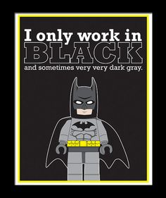 LEGO Batman Digital Wall Art Poster Print 8x10 and by Heremeow