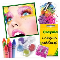 """""""Crayon Makeup"""" by whirlypath ❤ liked on Polyvore featuring beauty"""