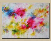 Art painting Large Colorful Abstract Original by Your Paintings, Original Paintings, Painting & Drawing, Painting Abstract, Blue Abstract, Lovers Art, All Art, Painting Inspiration, Fine Art America