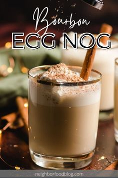This Bourbon Eggnog recipe is easy to make and even easier to sip! Not too thick or too sweet, this eggnog and bourbon cocktail will become a staple of your holiday gatherings.