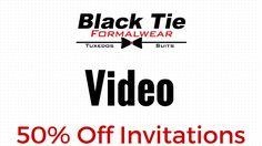 Black Tie Formalwear Wedding Invitations & Save The Dates