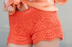 crochet shorts I wanna make these for a bathing suit cover.