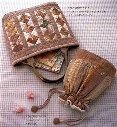 Ulla's Quilt World: Quilt pouches - Japanese Patchworks