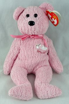174b5cf16ec Ty Baby Girl Beanie Babies Teddy Bear 2002 Hang Tag 1996 Tush PE Pellets