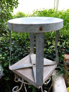 galvanized milking stool