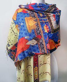 ALANGOO - Handmade Persian Shahnameh Scaft/Shawl