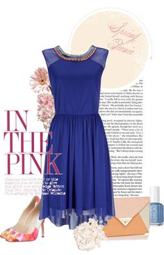 """""""pink & blue: electric spring"""" by catbulsara on Polyvore"""