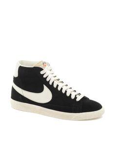 hot sale online 1f470 4459b Nike Blazer Mid Suede Sneakers Zapatillas, Piel De Ante, Ante Negro, Nikes  Negros
