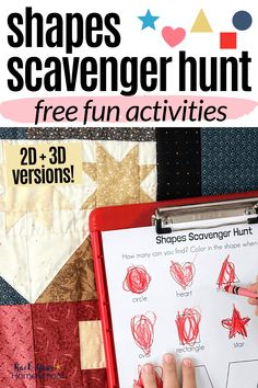 Help your kids enjoy simple math fun with these free shapes scavenger hunt printables. Awesome challenges to make math exciting!