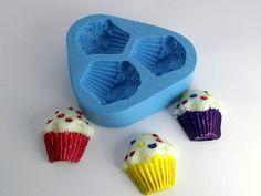 Molde de Silicone Cupcake Confete Mini 3 cavidades- Arte de Modelar