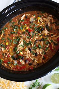 Slow Cooker Chicken Fajita & Quinoa Soup