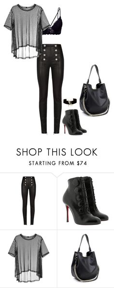 """Tumble"" by mprocedi on Polyvore featuring moda, Balmain, Christian Louboutin, Taylor e Yves Saint Laurent"