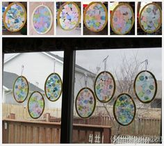 Tissue Paper Collage Easter Eggs