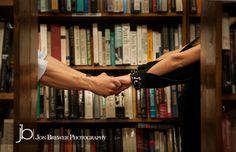 Engagement photos - Purdue University -  West Lafayette, Indiana - Jon Brewer Photography #engagement #library