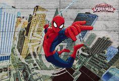 Marvel Spiderman Concrete Photo Wallpaper Wall Mural For Kids! Geometric Wallpaper Murals, Star Wallpaper, Embossed Wallpaper, Marvel Wallpaper, Photo Wallpaper, Disney Wallpaper, Wall Wallpaper, Kids Wall Murals, Murals For Kids