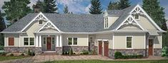Craftsman Ranch with Options - 12281JL | Architectural Designs - House Plans