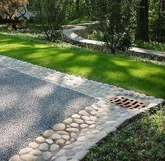 Drainage - driveway landscaping ideas | Park Landscape Design Driveways: #DrivewayLandscape