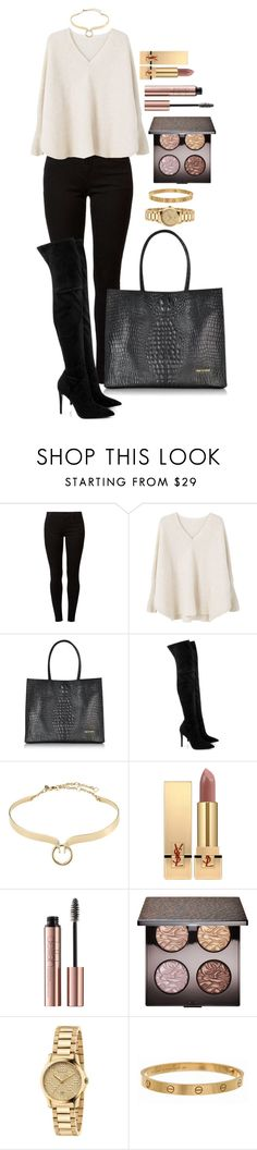 """""""Untitled #1619"""" by fabianarveloc on Polyvore featuring Dorothy Perkins, MANGO, Roberto Cavalli, Kendall + Kylie, Alexis Bittar, Yves Saint Laurent, Laura Mercier, Gucci and Cartier"""