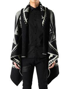 Manteau Unique Poncho Sleeveless Vest Style Cape Cardigan Cloak   by CELLO