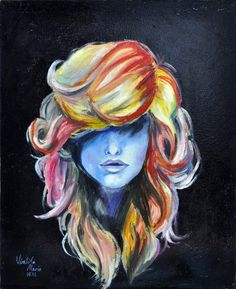 Love the hair in this painting