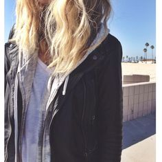 leather | tee | hoodie womens fashion CLICK THE PICTURE and Learn how to EARN MONEY while having fun on Pinterest