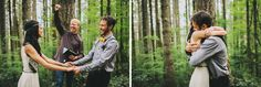 A Romantic Elopement in the Woods: Laura + Nick Crisco-fist pump and get outta the way