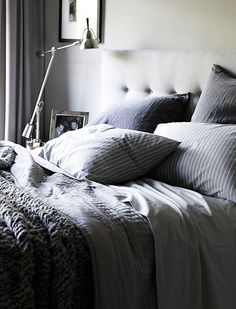 <3 #grey #bedroom If you like this you may want to take a look at the Ethiopia Grey duvet set or grey linen bedding (http://www.naturalbedcompany.co.uk/shop/natural-cotton-bedding/linen-bedding/) - both from www.naturalbedcompany.co.uk