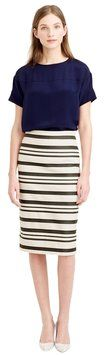 """J.Crew Double-stripe Pencil Skirt. This J.Crew Double-stripe Pencil Skirt was voted """"Most Flattering Fit"""" by Tradesy members! Get it before it's gone at Tradesy, where savings rule."""