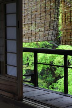 障子 showji window , すだれ Japanese traditional shade , common reed , Kyoto , Japanese nostalgic