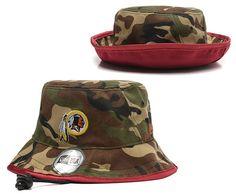 0aae9404594 NFL WASHINGTON REDSKINS BUCKET Fisherman Hats Caps Camo 01