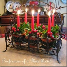 CONFESSIONS OF A PLATE ADDICT Christmas Centerpiece