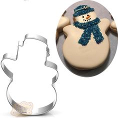 Look what I found on AliExpress Snowman Cookies, Holiday Cookies, Iced Cookies, Sugar Cookies, Christmas Goodies, Christmas Baking, Fondant, Metal Cookie Cutters, Easter Season