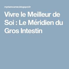 Vivre le Meilleur de Soi : Le Méridien du Gros Intestin
