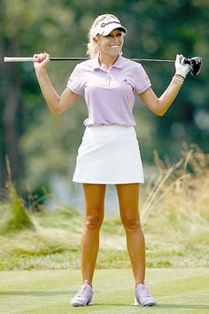 Ah-h-h-h! To be young and have those wonderful legs - and be an incredible golfer.