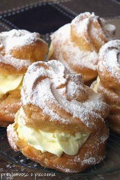 ptysie - My WordPress Website Polish Desserts, Polish Recipes, Sweets Cake, Pumpkin Cheesecake, How Sweet Eats, Desert Recipes, No Bake Cake, Sweet Recipes, Cookie Recipes